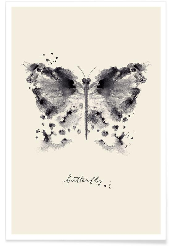 Vlinders, Ink Butterfly poster