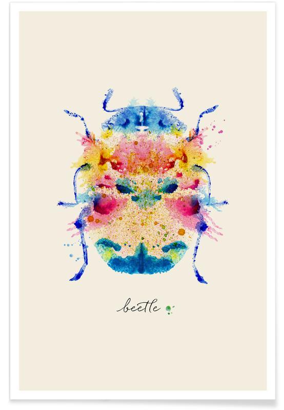 Scarabées, Ink Beetle Psychadelic affiche