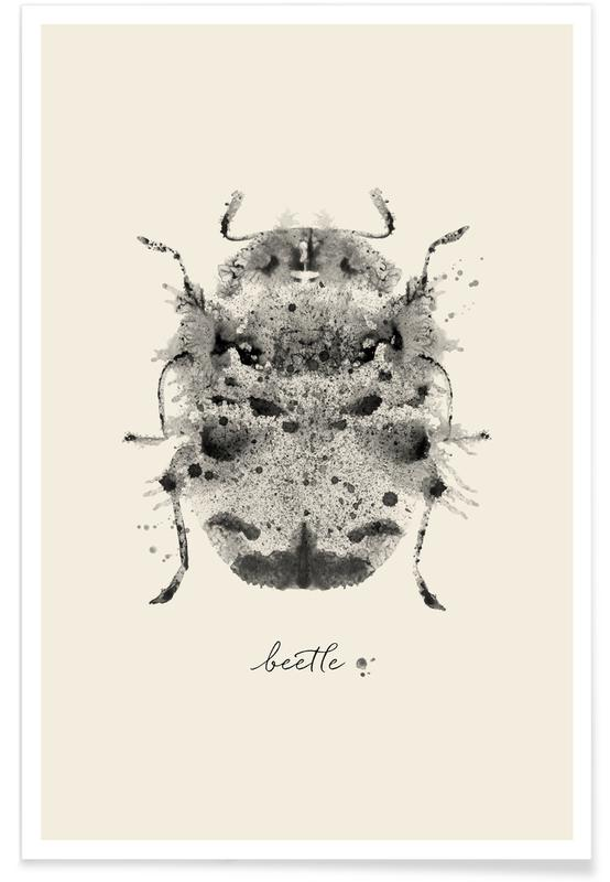 Kevers, Ink Beetle Greyscale poster