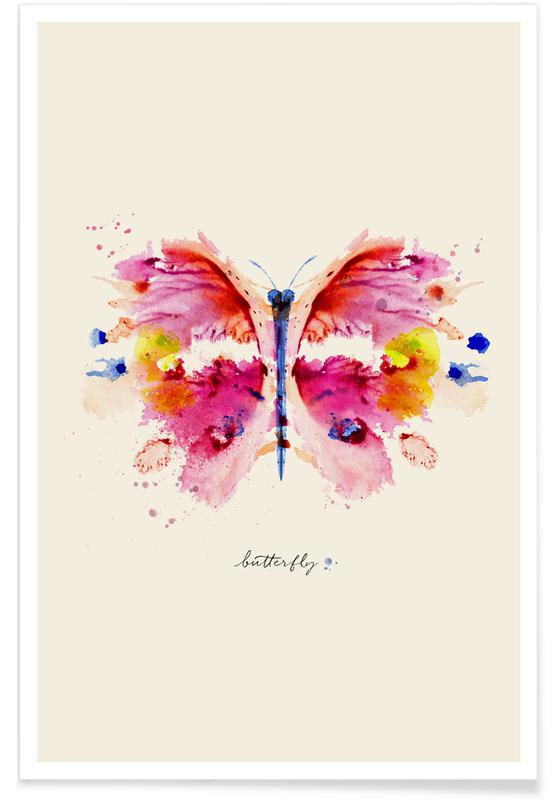 Papillons, Ink Butterfly affiche