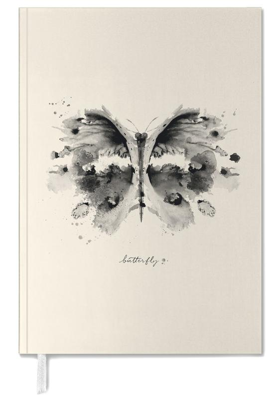 Papillons, Ink Butterfly Black & White agenda