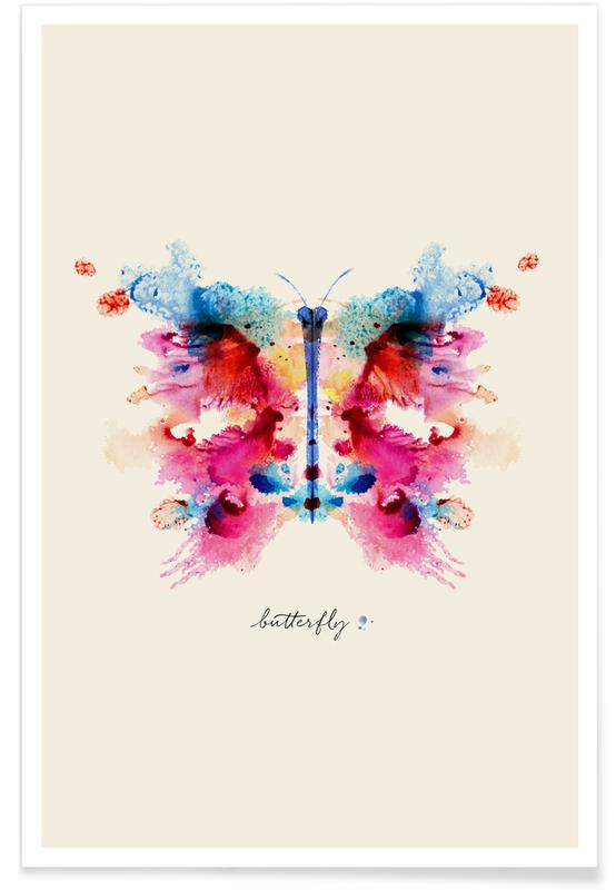 Papillons, Ink Butterfly Iridescent affiche