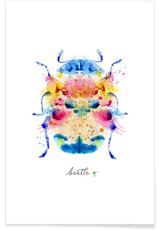 , Ink Beetle Psychadelic II -Poster