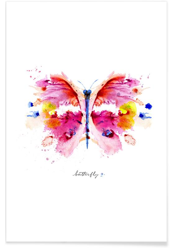 Schmetterlinge, Ink Butterfly II -Poster