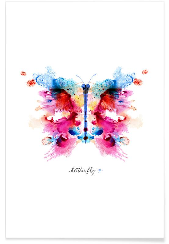 , Ink Butterfly Iridescent II -Poster