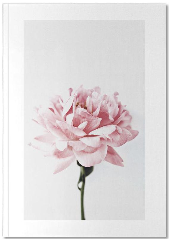 Peony Pink and Grey Notebook