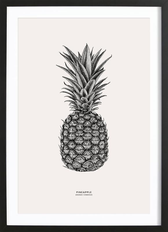 Pineapple Poster i träram