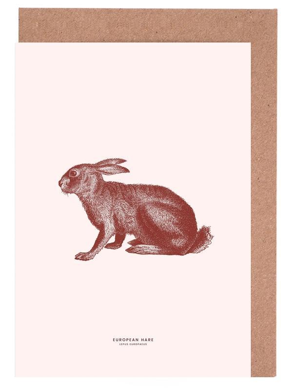 European Hare II -Grußkarten-Set