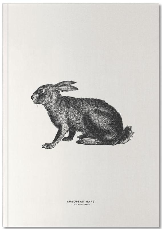 Pâques, Lapins, Art pour enfants, European Hare Notebook