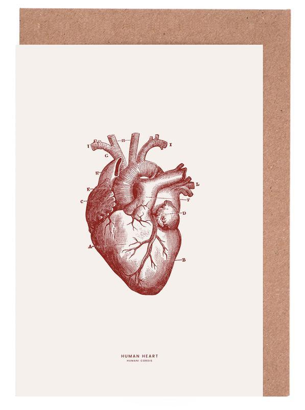 Human Heart II -Grußkarten-Set