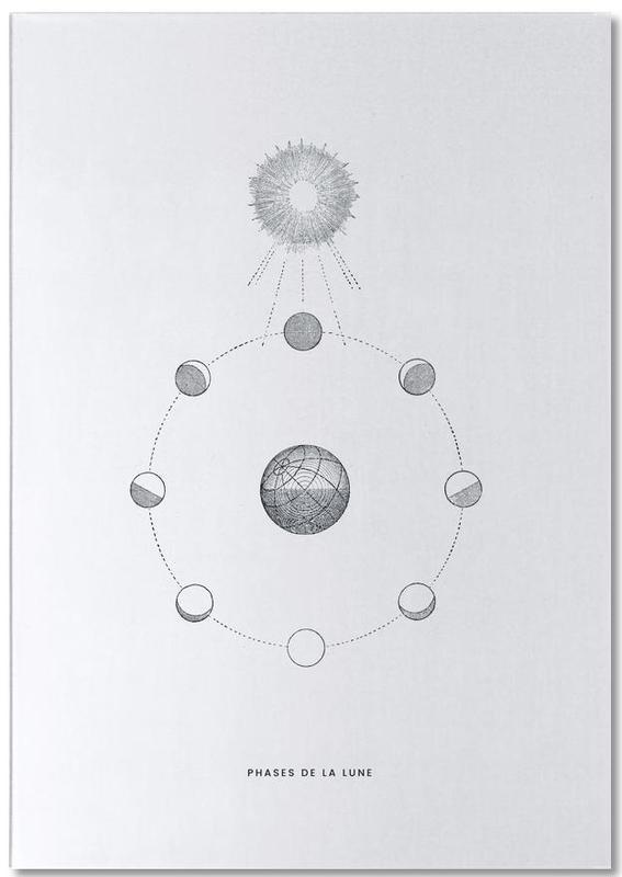 Phases de la Lune II -Notizblock
