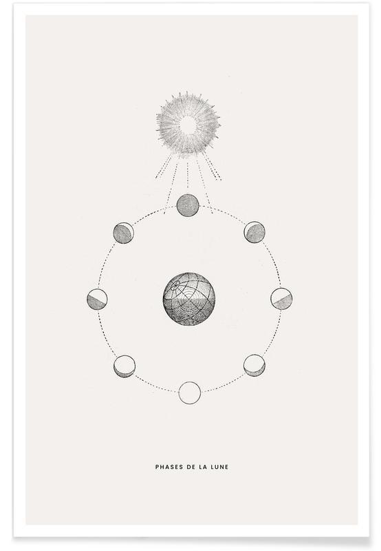 Phases de la Lune Plakat