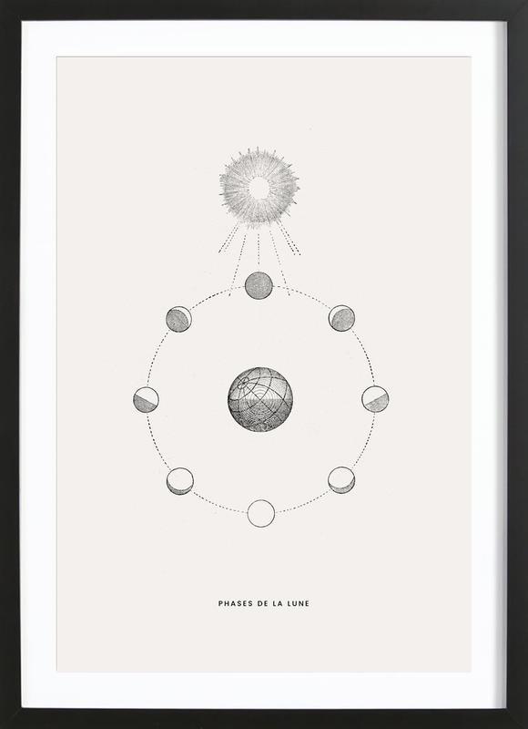 Phases de la Lune Poster i träram