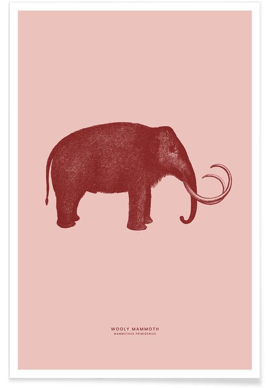 Art pour enfants, Éléphants, Mammoth II affiche