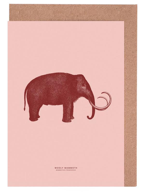 Elefanten, Kinderzimmer & Kunst für Kinder, Mammoth II -Grußkarten-Set
