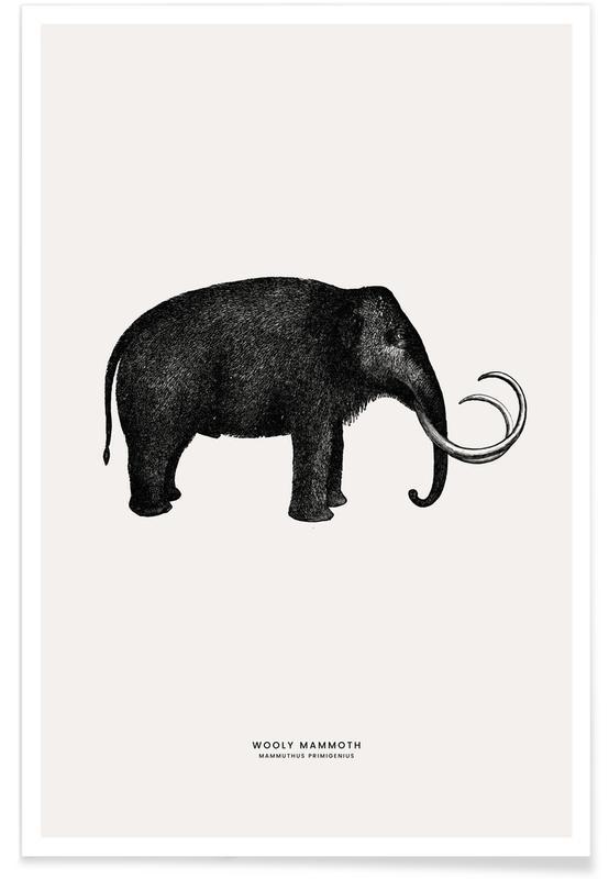 Art pour enfants, Éléphants, Mammoth affiche
