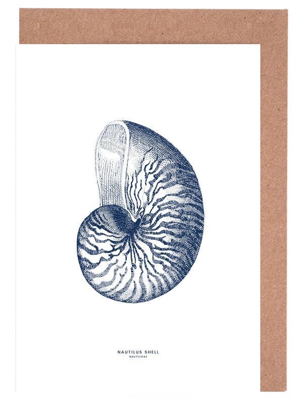 Nautilus Shell II -Grußkarten-Set