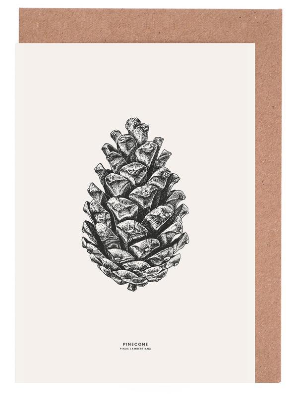 Weihnachten, Blätter & Pflanzen, Pinecone -Grußkarten-Set