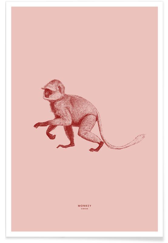 Arte para niños, Monos, Monkey II póster