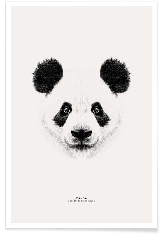 Arte para niños, Pandas, Panda póster
