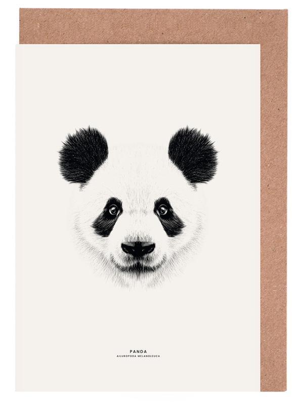 Panda cartes de vœux