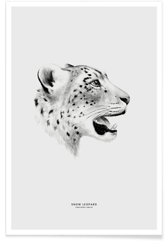 Leoparder, Snow Leopard Plakat