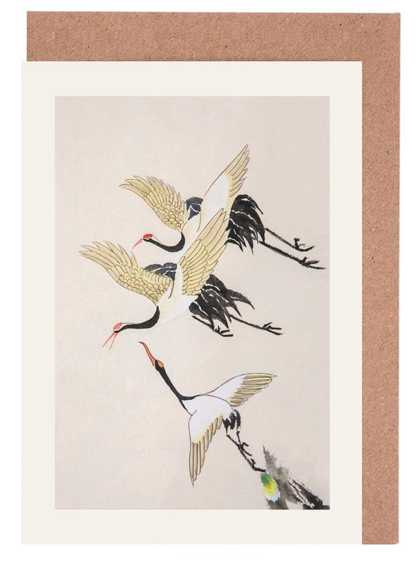 Swooping Cranes Greeting Card Set