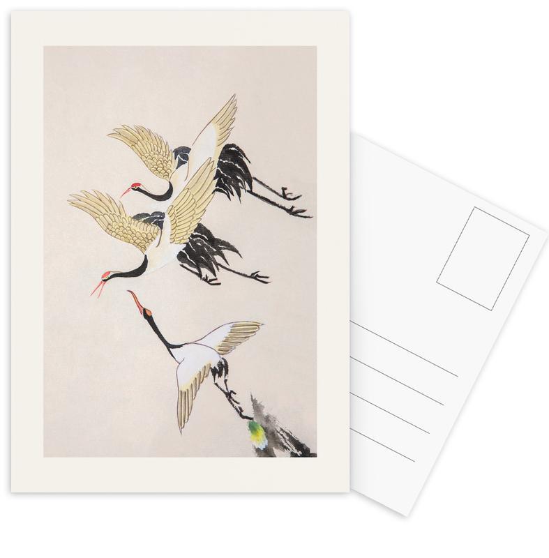 Swooping Cranes Postcard Set