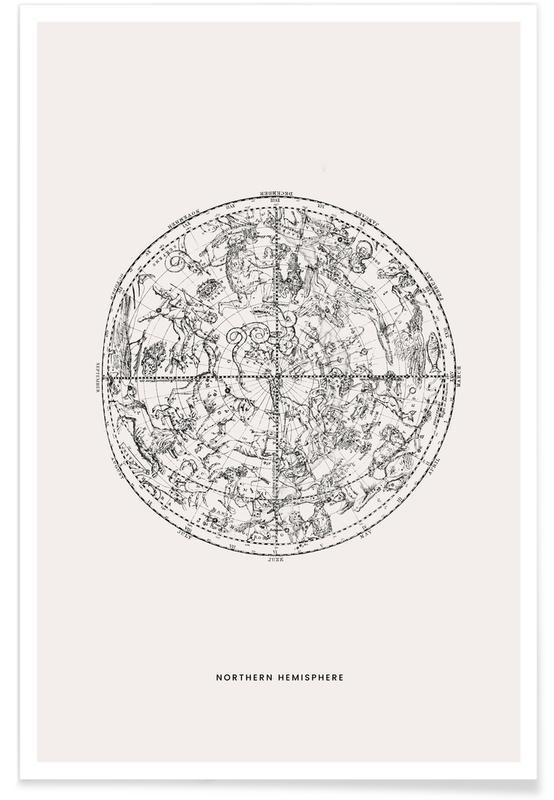 , Northern Hemisphere póster