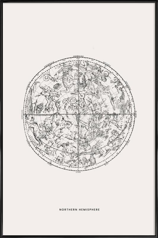 Northern Hemisphere Poster i standardram