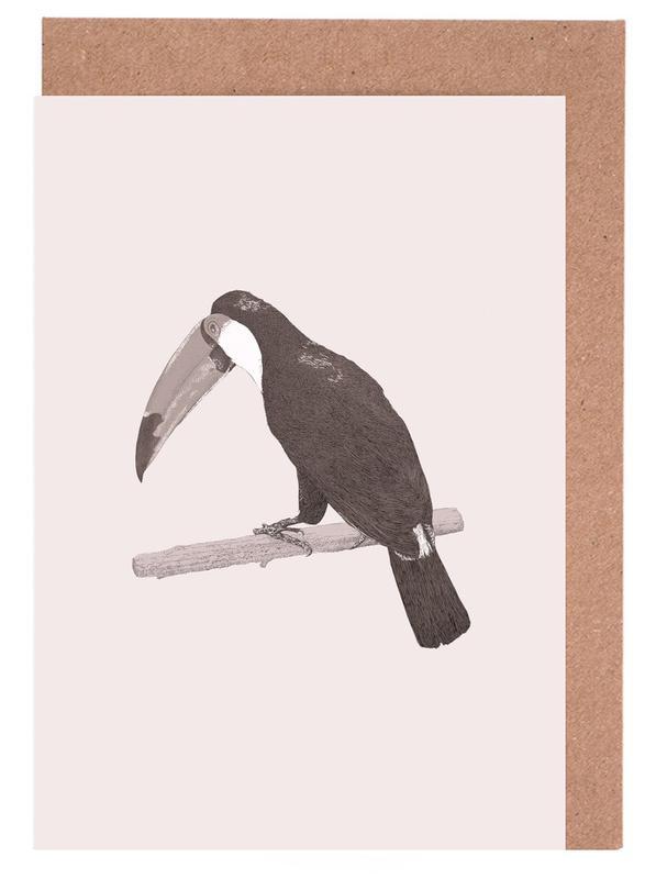 Perroquets, Toucan Pink cartes de vœux