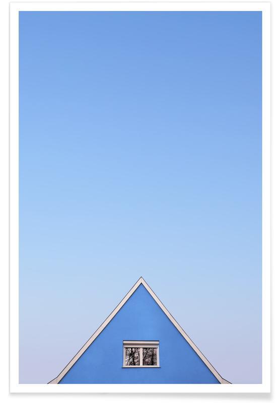Architekturdetails, Blue Peak -Poster