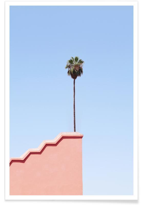 Architekturdetails, Palmen, Living on The Edge -Poster