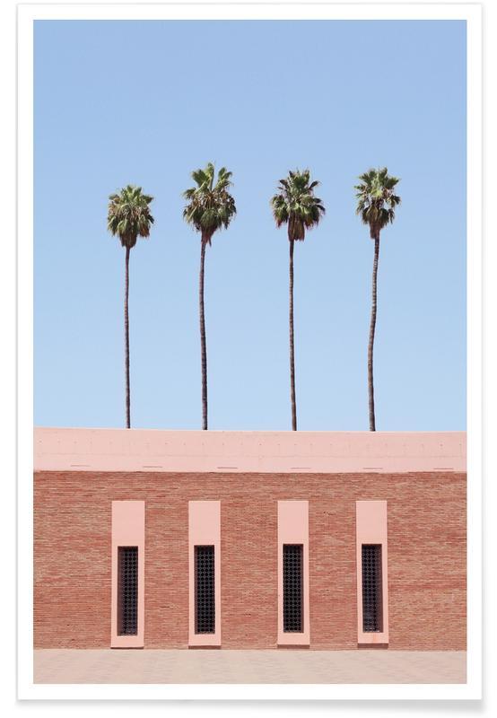 Architekturdetails, Palmen, Palm Tree Factory -Poster