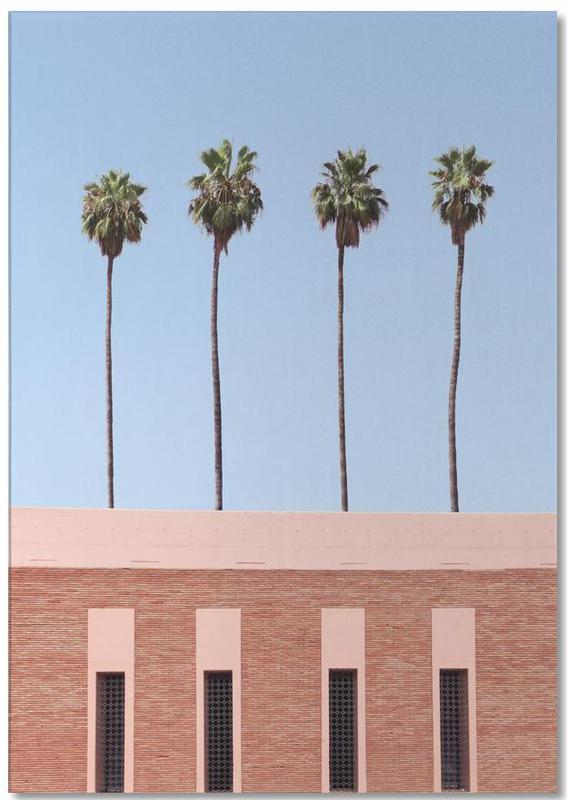 Architekturdetails, Palmen, Palm Tree Factory -Notizblock