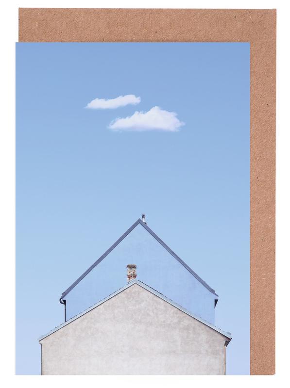 Architekturdetails, Double House -Grußkarten-Set