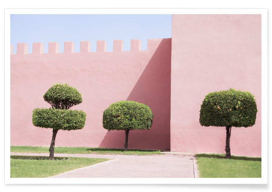 Architectonische details, Bomen, Three Trees poster