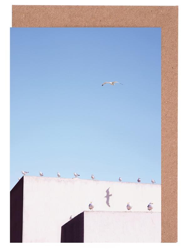 Architekturdetails, Möwen, Gang Meeting -Grußkarten-Set