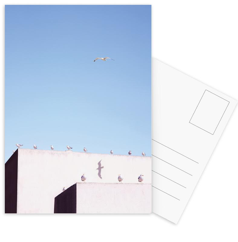 Architekturdetails, Möwen, Gang Meeting -Postkartenset