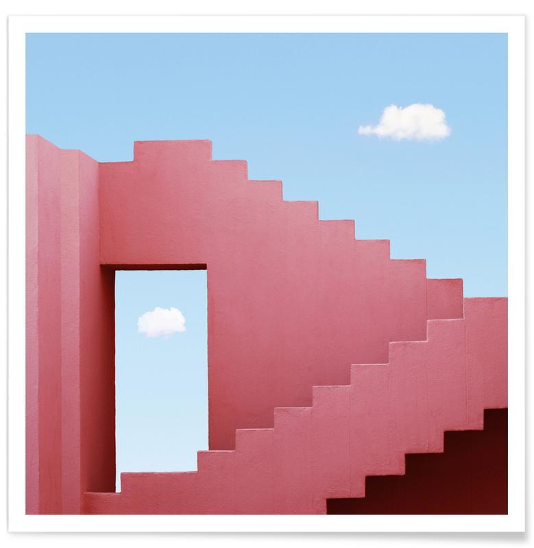 Architekturdetails, Abstrakte Landschaften, Red Maze -Poster