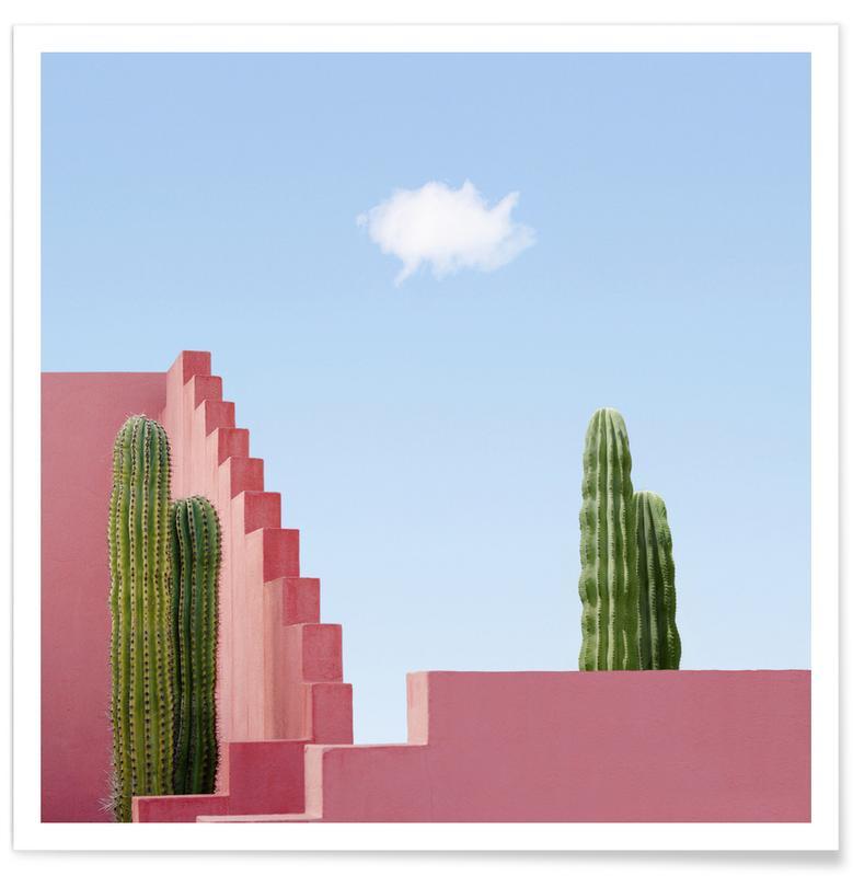 Architekturdetails, Abstrakte Landschaften, Cactus Meeting -Poster