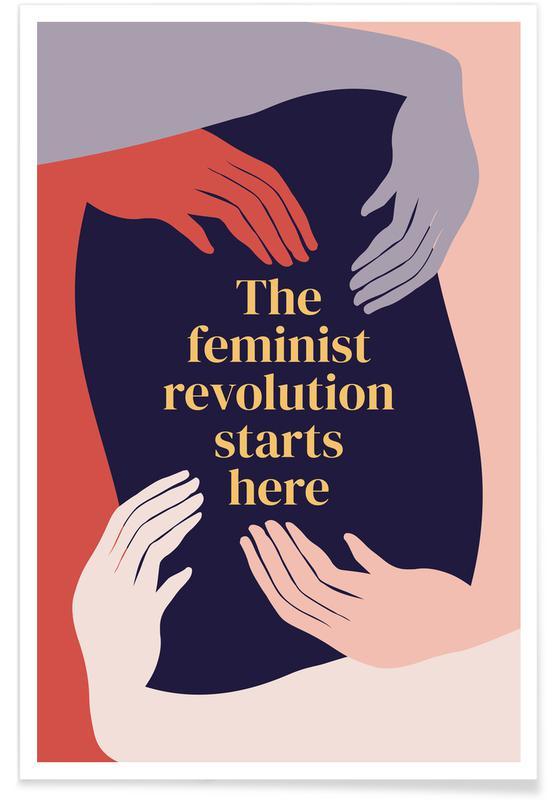 Motivation, Citations et slogans, The Feminist Revolution Starts Here II affiche