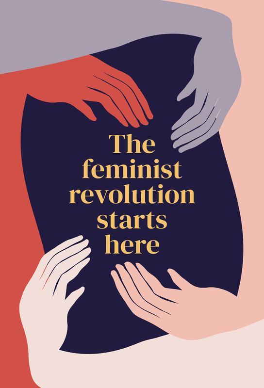 The Feminist Revolution Starts Here II Aluminium Print