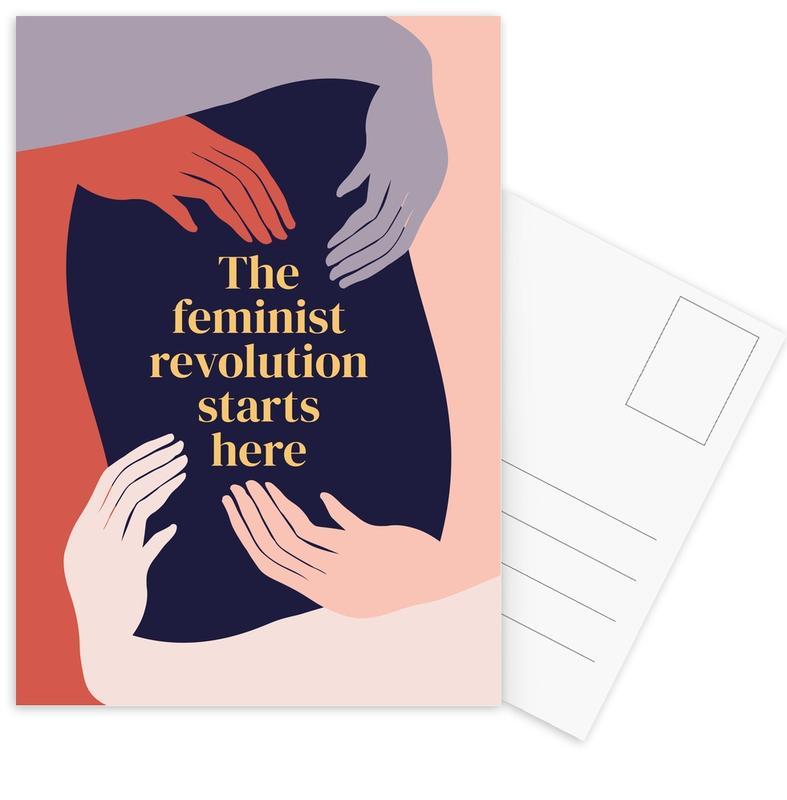The Feminist Revolution Starts Here II Postcard Set