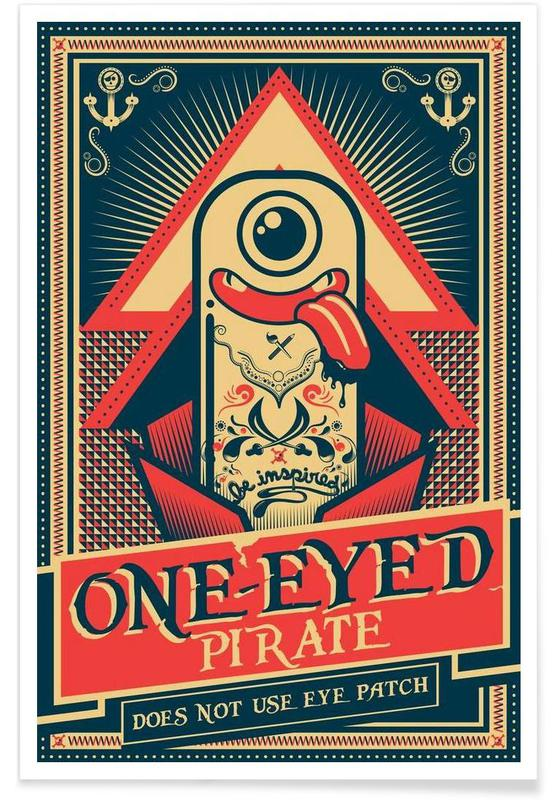 One-eyed pirate poster