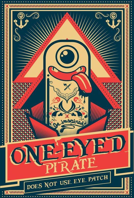 One-eyed pirate acrylglas print