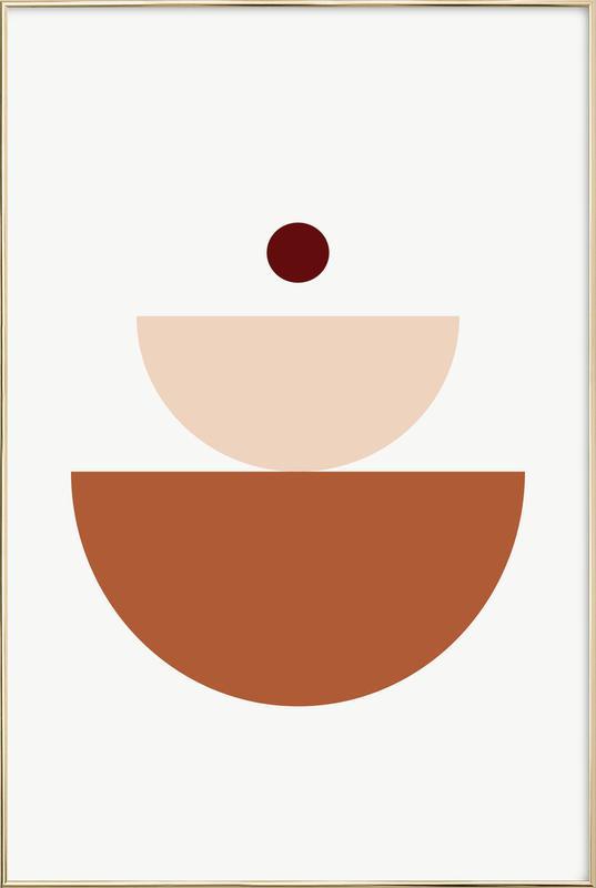 Balance II -Poster im Alurahmen