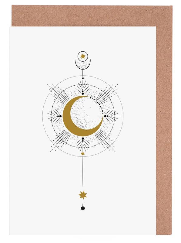 Moon Radius -Grußkarten-Set