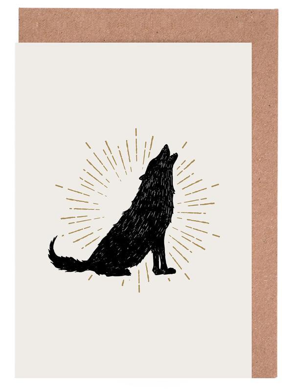 Wolf -Grußkarten-Set
