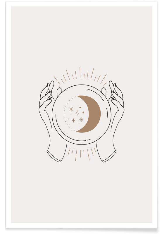 Måne, Crystal Ball Plakat